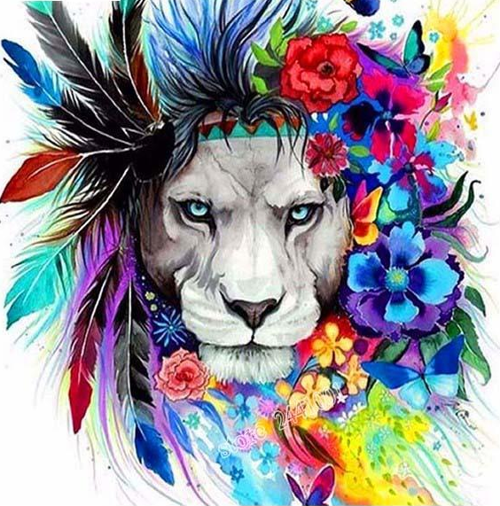 Buy Garland Lion Diamond Painting Kit At 30 Off Pretty Neat Creative Lion Painting Lion Tattoo Mosaic Drawing