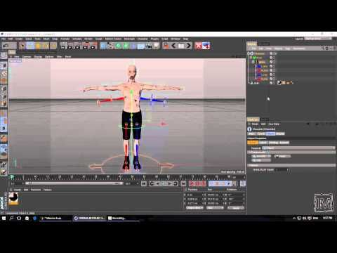 Cinema 4D - Character Motion with Mixamo Fuse & Cinema 4D
