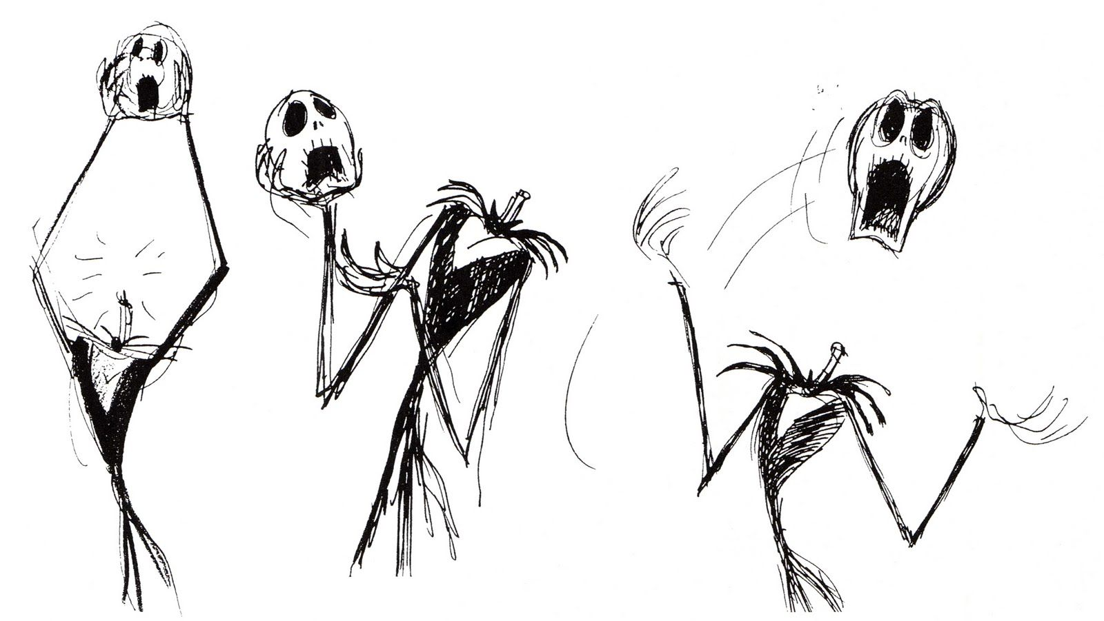 Concept art of Jack Skellington headless