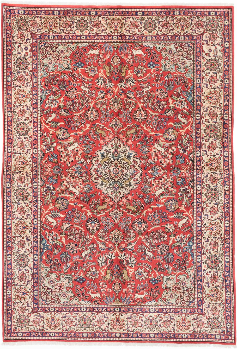 Hand Knotted Sarough Copper Wool Rug 7 0 X 10 2 Rugs On Carpet Rugs Australia Rug Texture