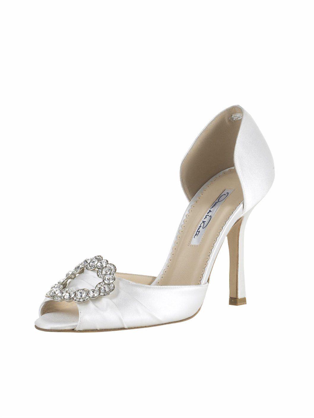 Oscar De La A Bridal Shoes Crystal Buckle Dorsay Http Womenspin
