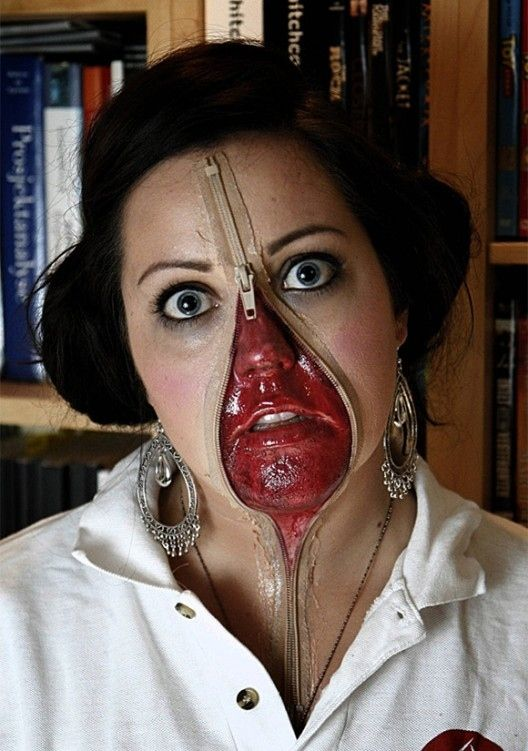 20 Awesome Zipper Faces For Halloween   Halloween ideas, Costumes ...