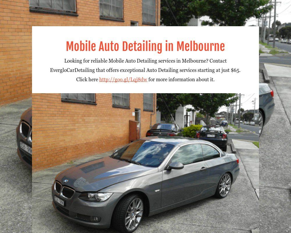 Mobile Auto Detailing in Melbourne