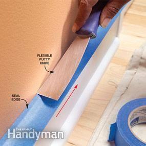 Taping Before Painting Painters Tape Home Repairs Home Repair