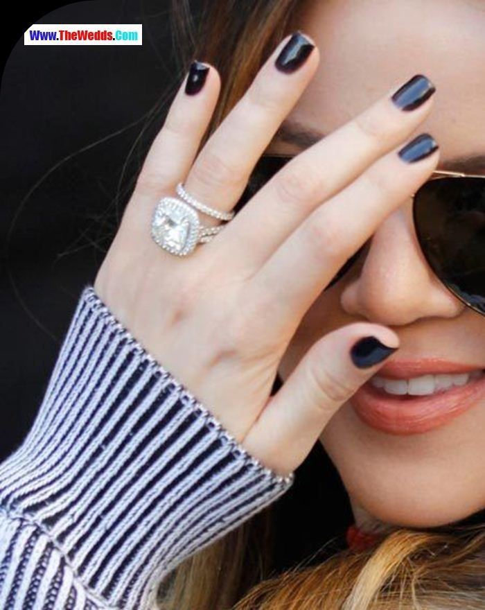 Khloe Kardashian Wedding Ring Khloe Kardashian Engagement Ring Celebrity Engagement Rings Beautiful Engagement Rings