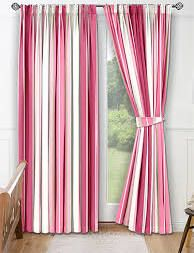Curtains2go White And Pink Stripe Curtains Bright Hint Of Le Green 45