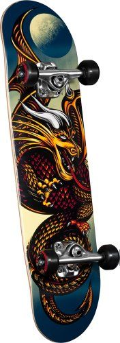 Powell Golden Dragon Complete Skateboard - Knight Dragon (7.5-Inch)