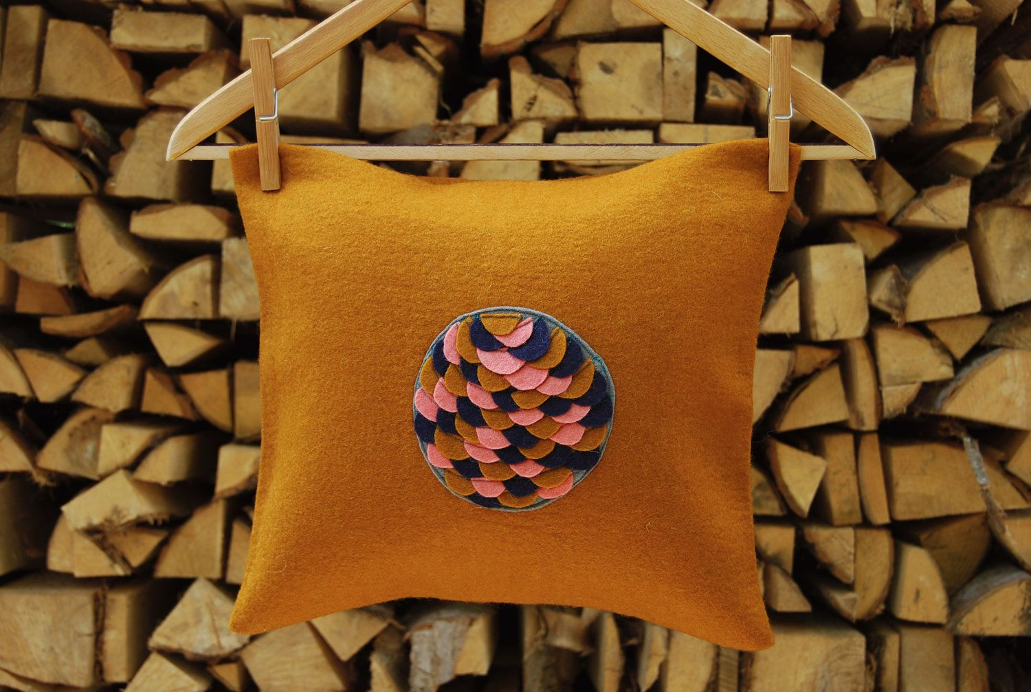 Fishscale Pillow.: Limited Edition Felt Pillow.