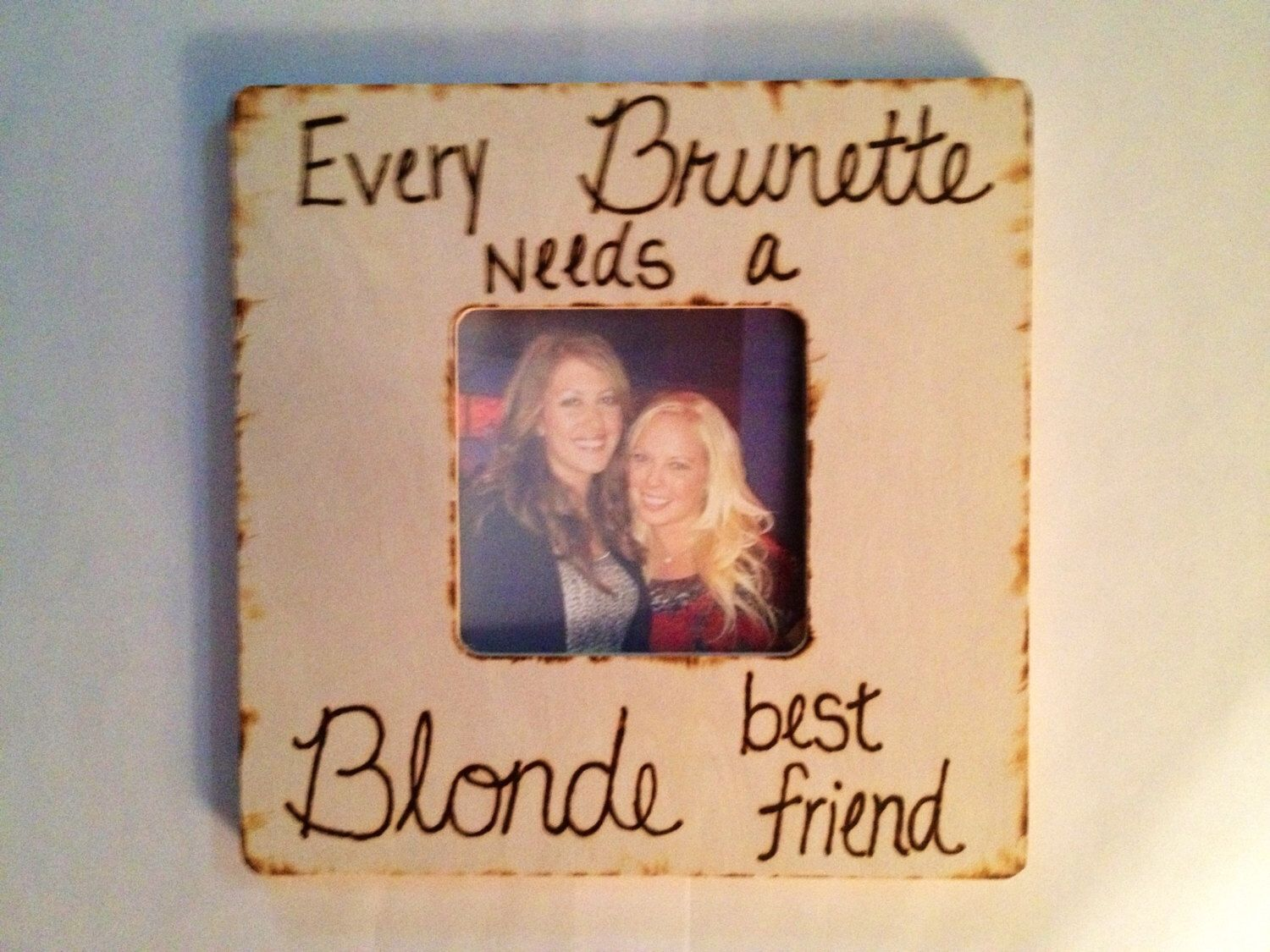 Blonde and Brunette Best Friends Frame by CreativeCraftsbyCC on Etsy ...