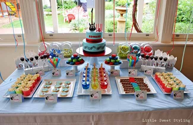 Guitar Rock Star 4th Birthday Boy Party Ideas Spaceships and