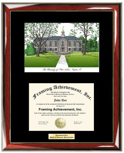University of Rhode Island URI Lithograph Diploma Frame Personalized ...