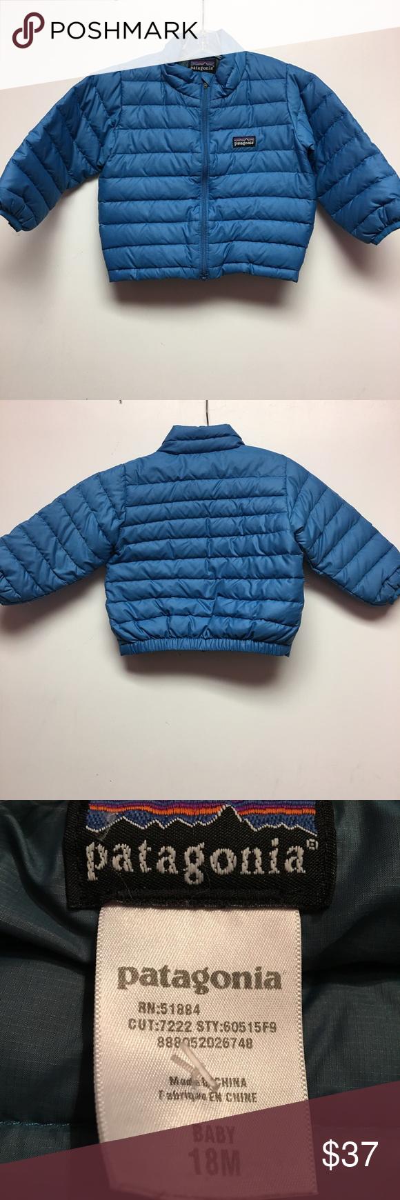 Patagonia 18m puffer jacket sweater light blue Sweaters