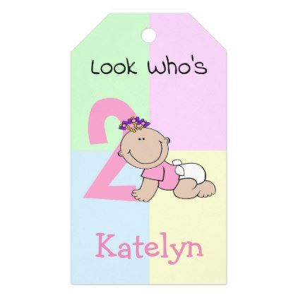 cute cartoon baby girl 2nd birthday gift tags birthday gifts party