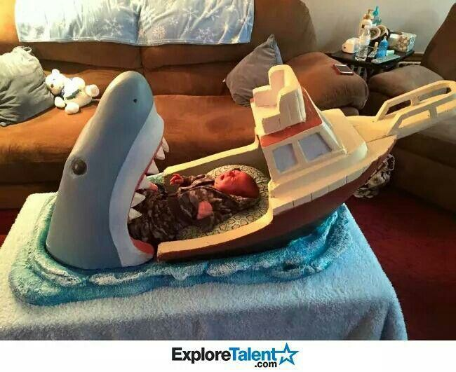 Awesome shark bed.