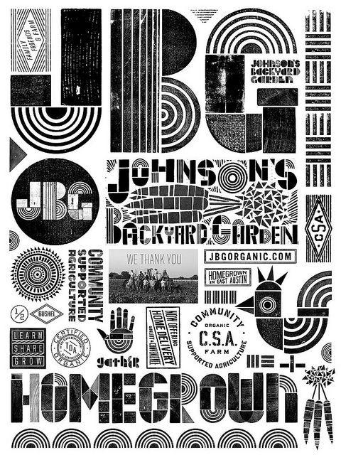 Ryan Rhodes #type #design - JBG Collage Typography Typography, Typography Design, Design