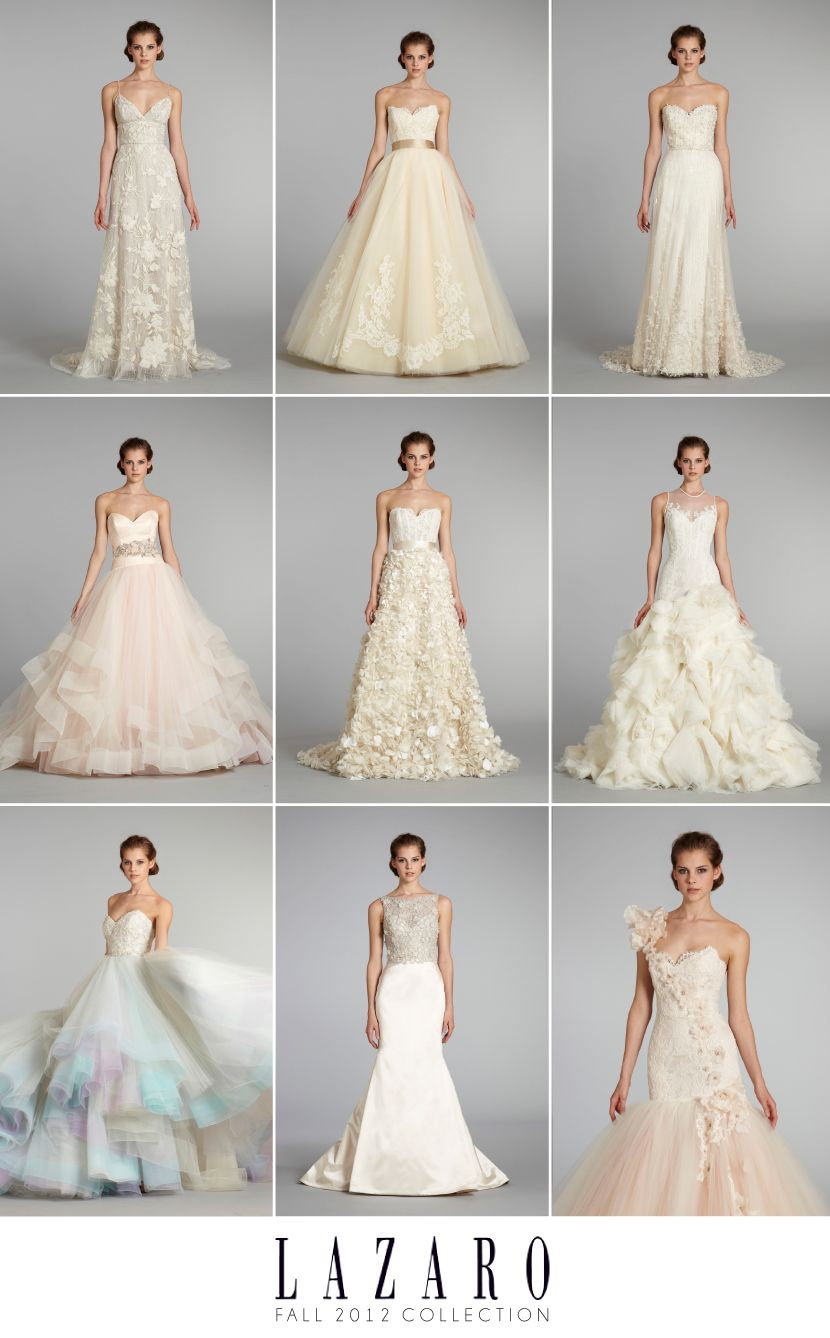 Lovely Lazaro Fall 2012 Wedding Gown