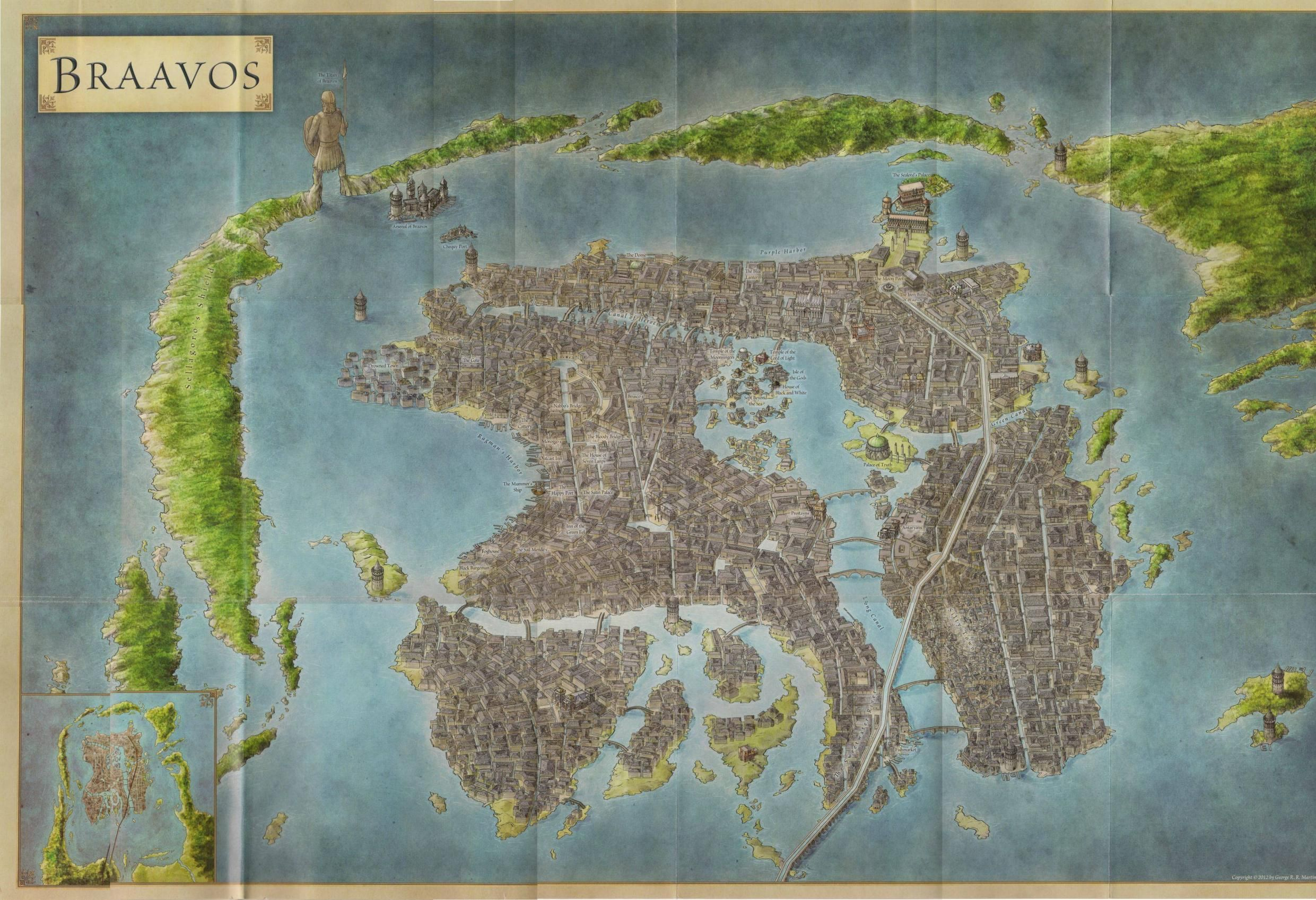 map of Braavos, GoT