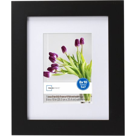 Mainstays Flatwide 8 X 10 To 5 X 7 Picture Frame Black Walmart Com Picture Frames Wood Picture Frames Small Art Prints