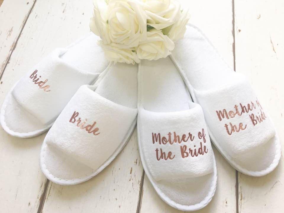 Rose Gold Bridal slippers • Bridal
