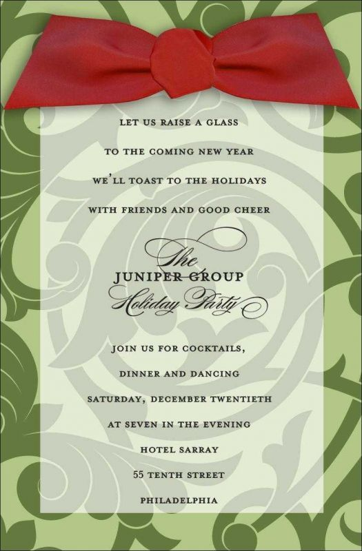 The gallery for --u003e Office Christmas Party Invitation Wording - Business Event Invitation
