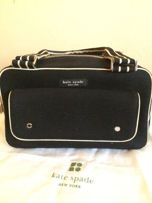 bb4e44c6f9 AUTHENTIC Vintage Kate Spade Canvas and Leather Small Tote -  85 ...
