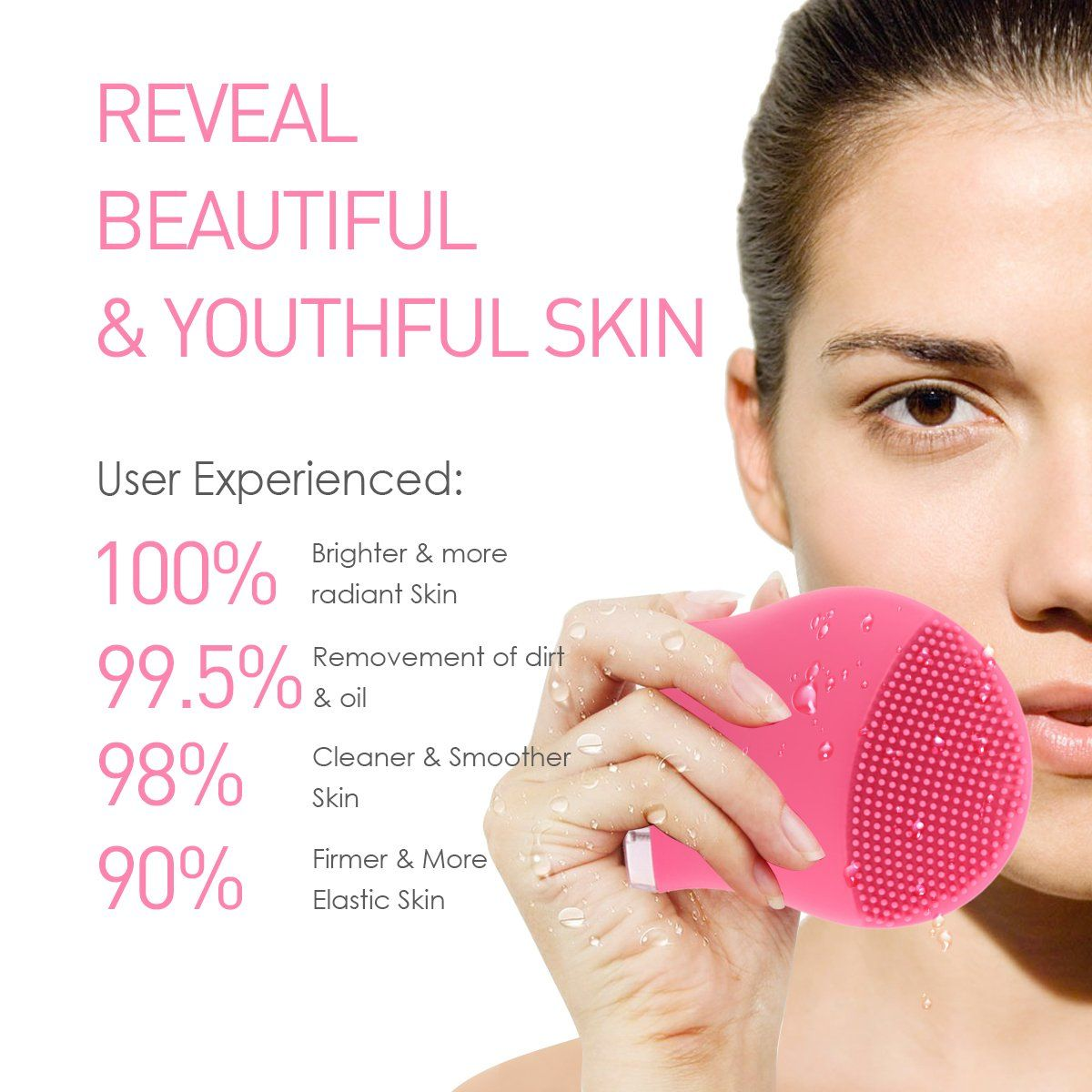 Wowlily Silicone Facial Cleansing Brush Sonic System Face