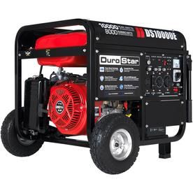 Durostar 10000 Watt Gasoline Portable Generator With Oem Engine Lowes Com In 2020 Portable Generator Electric Start Generator Gas Powered Generator