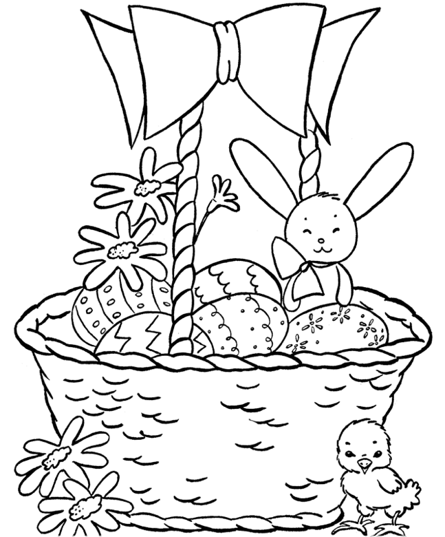 Easter Basket Coloring Page Coloring Book Free Easter Coloring Pages Easter Colouring Easter Coloring Pages