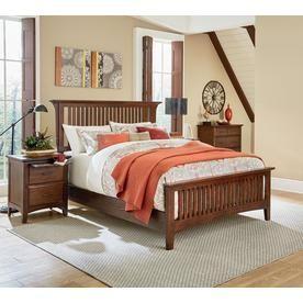 Osp Home Furnishings Modern Mission Vintage Oak Queen Bedroom Set