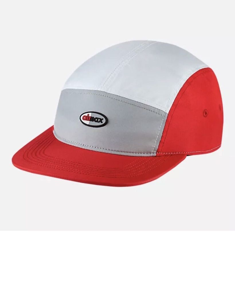 9a2312ccd524 Nike Air Max Aerobill AW84 5-Panel Strapback Hat Cap Grey White Red  891297-012  Nike  5Panel