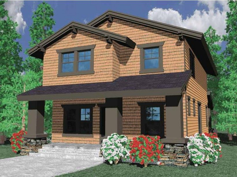 Prairie Style 2 story 3 bedroomss House Plan with 1933 total – Prairie Style Garage Plans
