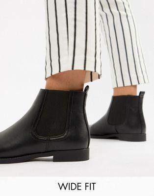 eac113b40e988 Park Lane Wide Fit Flat Chelsea Boots   Class and Sass   Flat chelsea boots,  Chelsea boots, Flats