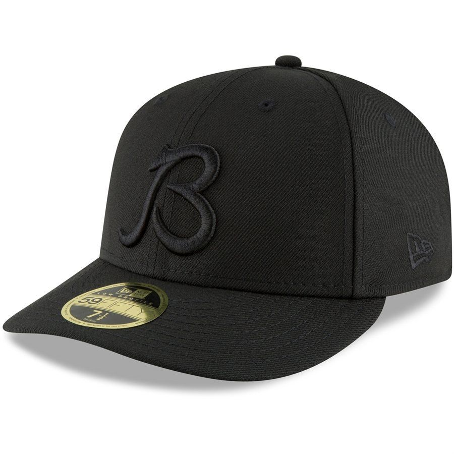 3f222d0d Men's Chicago Bears New Era Black B Logo Low Profile 59FIFTY Fitted Hat,  Your Price: $34.99