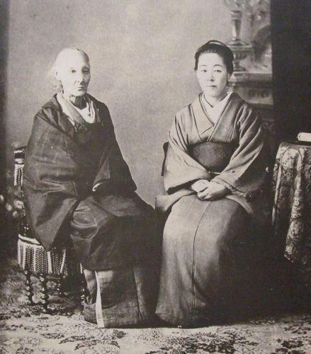 晩年の楠本イネと娘・高子の写真   幕末ガイド   歴史画, 日本文学, 古写真