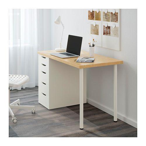 Linnmon alex mesa blanco pinterest escritorios y - Mesa despacho ikea ...