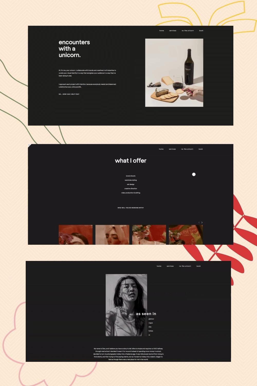 Portfolio Squarespace web design