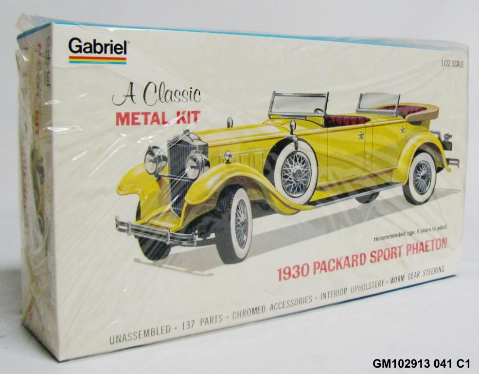 Vintage Gabriel 1930 Packard Sport Phaeton Metal Model Car Kit 1