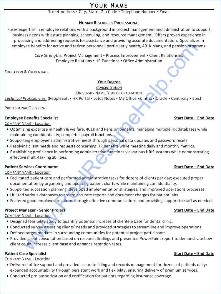 401K Resume Examples Pinterest