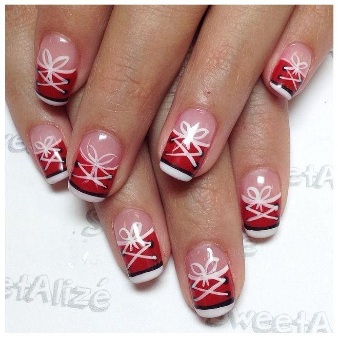 Nail Art Couture Converse Nail Art: Cute Converse Nail Art In Gel Polish. Alize's Nail