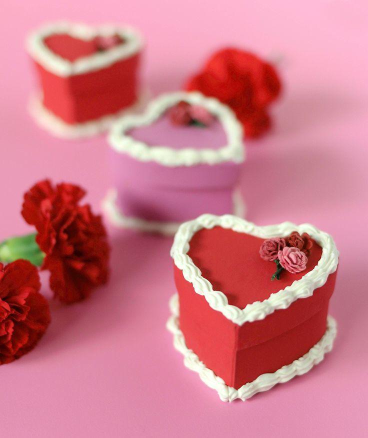 Diy valentines day cake gift boxes valentines diy gift