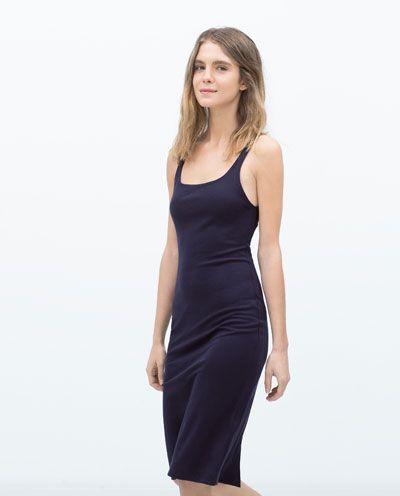 Robe France Femme Shop Zara Spéciaux Basic Je Bretelles Prix gOgYrv