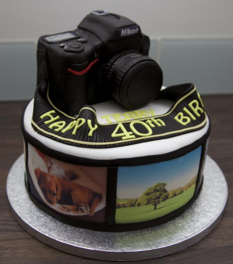 Prime Nikon Camera Cake With Images Camera Cakes Cake Photo Cake Personalised Birthday Cards Sponlily Jamesorg