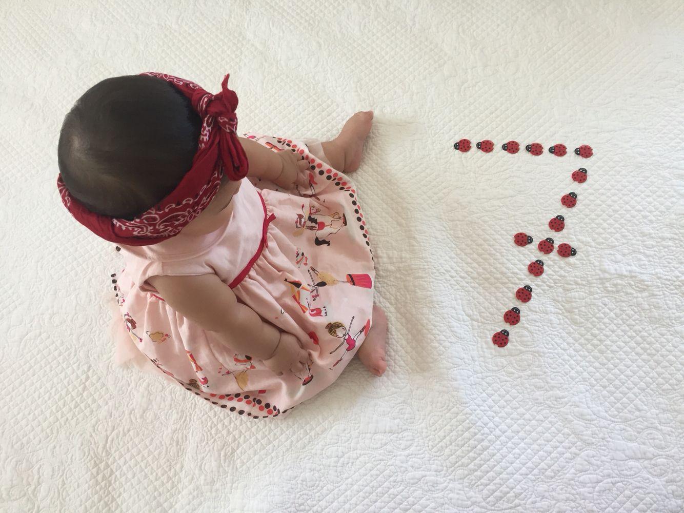 7 Ay Konsepti Bebek Fotograflari Bebek