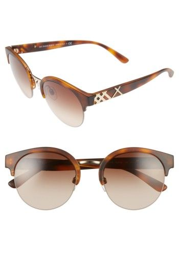 dd5a45881fb4 Free shipping and returns on Burberry 52mm Gradient Semi Rimless Sunglasses  at Nordstrom.com. Bold