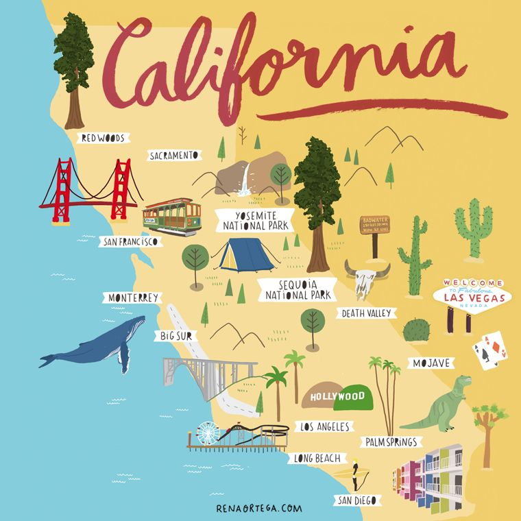 Pin by Nnnq on map in 2019 | California map, California travel, Road ...