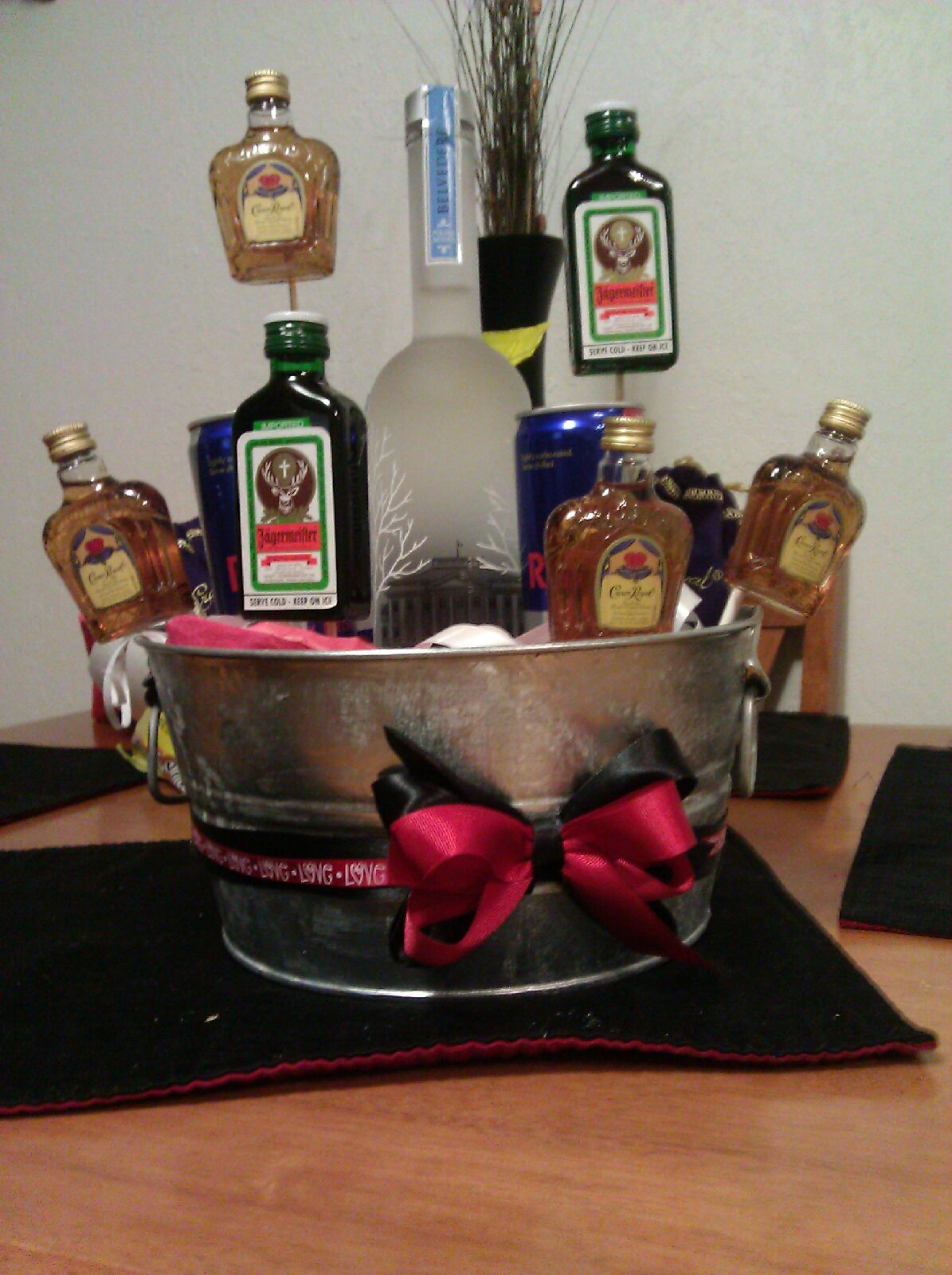 liquor basket for him