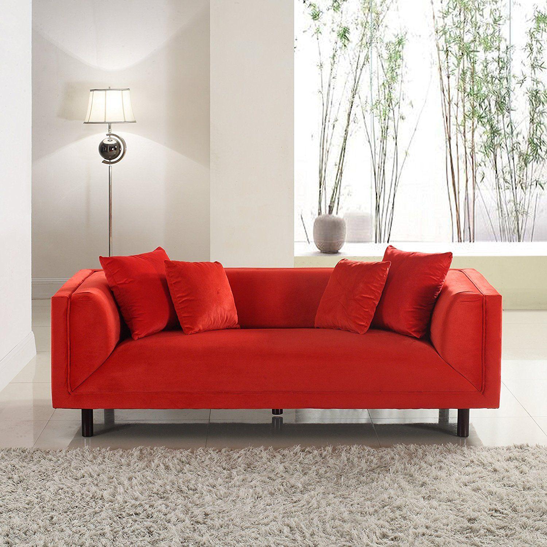 Amazon Com Divano Roma Furniture Modern Contemporary Velvet 3
