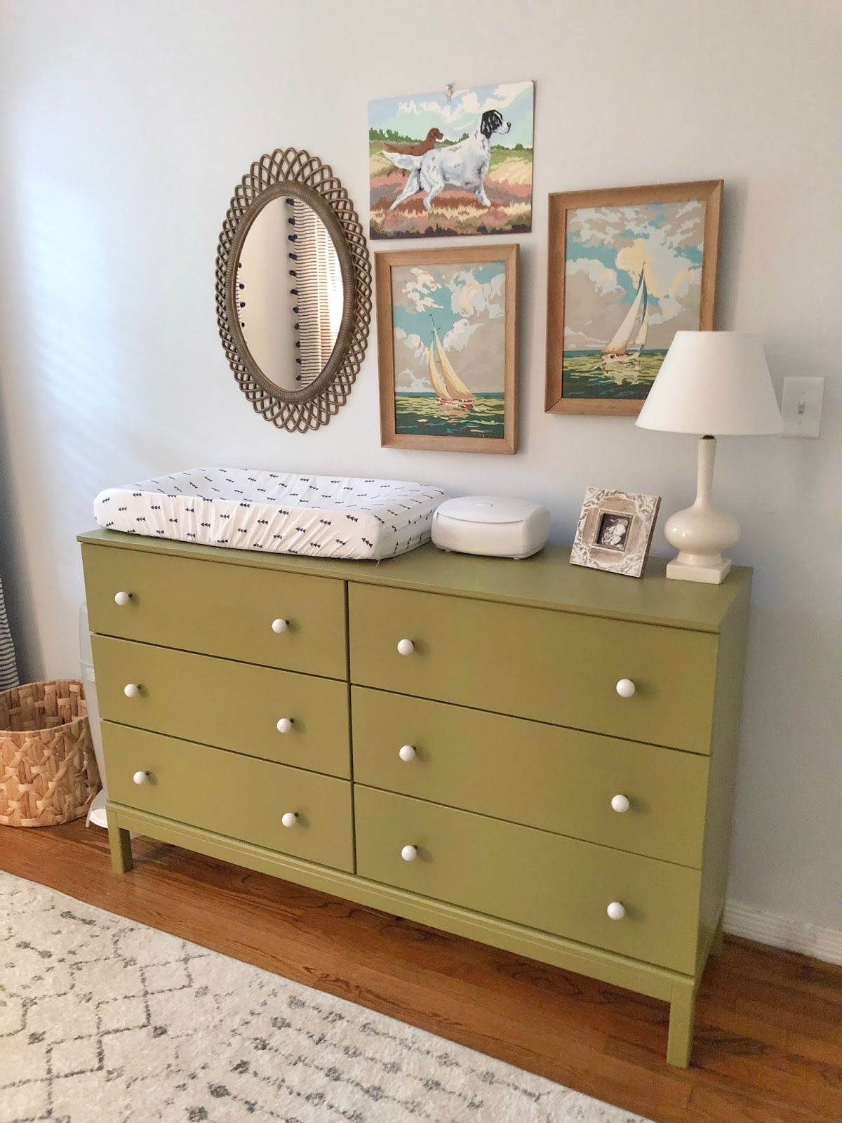 6 drawer changing table on mills whimsical vintage nursery something lovely blog olive green dresser changing table paint vintage nursery decor changing table dresser green dresser mills whimsical vintage nursery