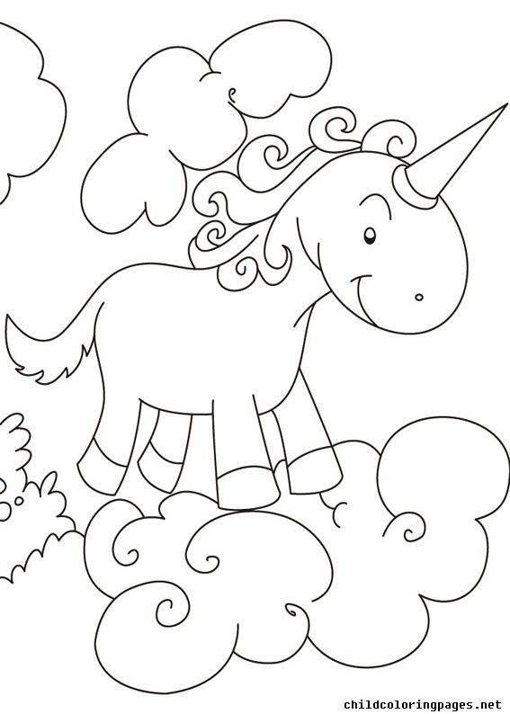Unicorn Coloring Pages 022 - http://pages-coloring.com/unicorn-coloring-pages-022/?Pinterest
