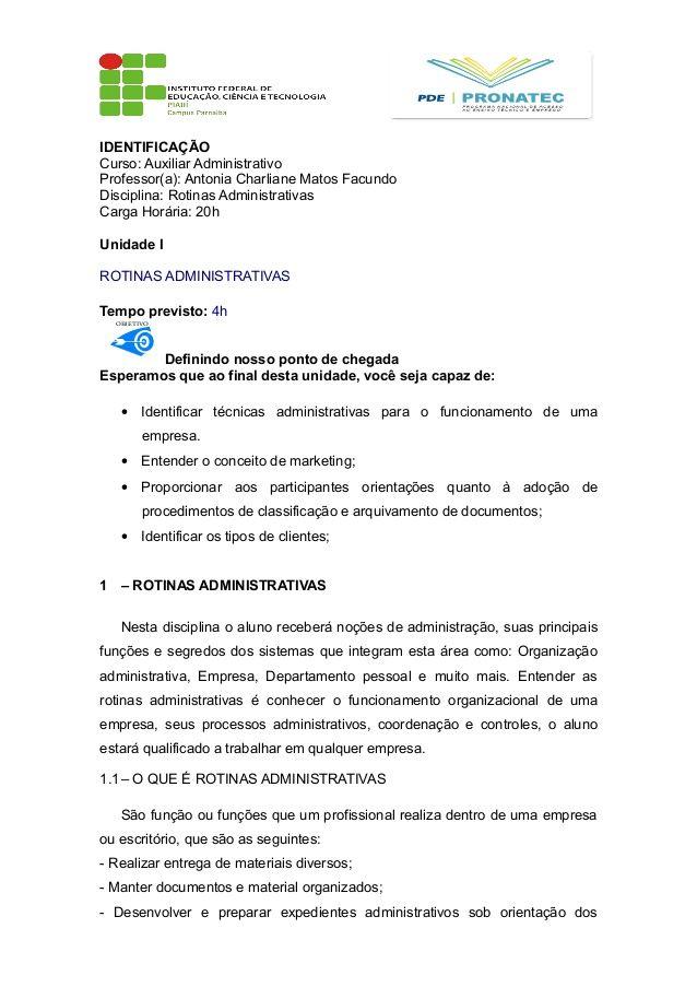 IDENTIFICAÇÃO Curso Auxiliar Administrativo Professor(a) Antonia - thank you letter to professor